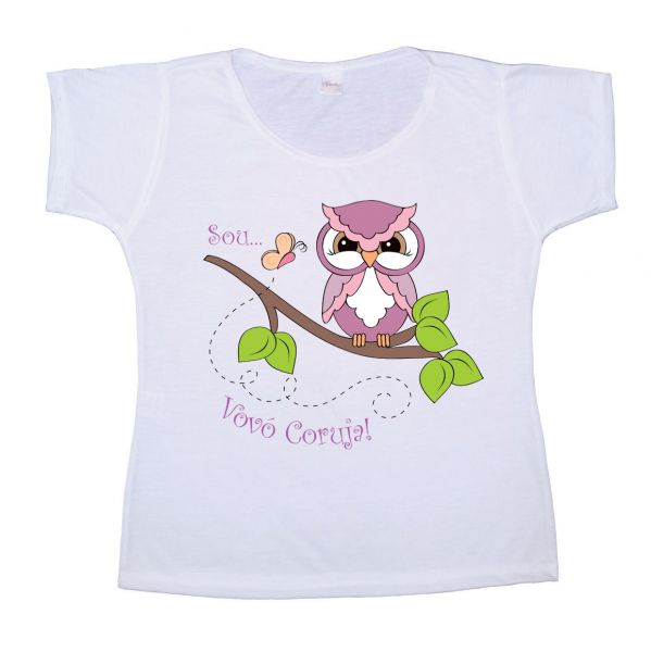 9df60560e Camiseta Vovó Coruja - Gracia Store